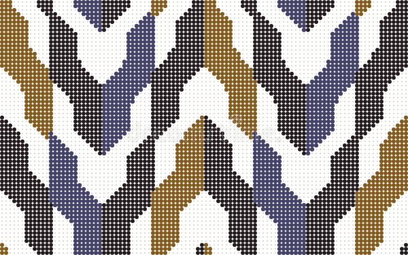 Halftone geometrii kolorowy bezszwowy retro deseniowy strzałkowaty blok royalty ilustracja