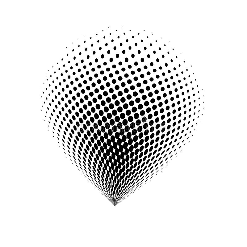 Halftone globe logo vector symbol icon design. stock illustration