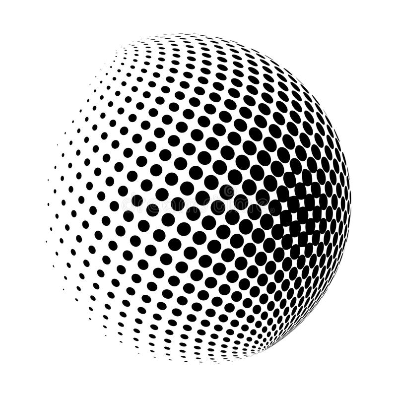 Halftone globe logo vector symbol icon design. royalty free illustration
