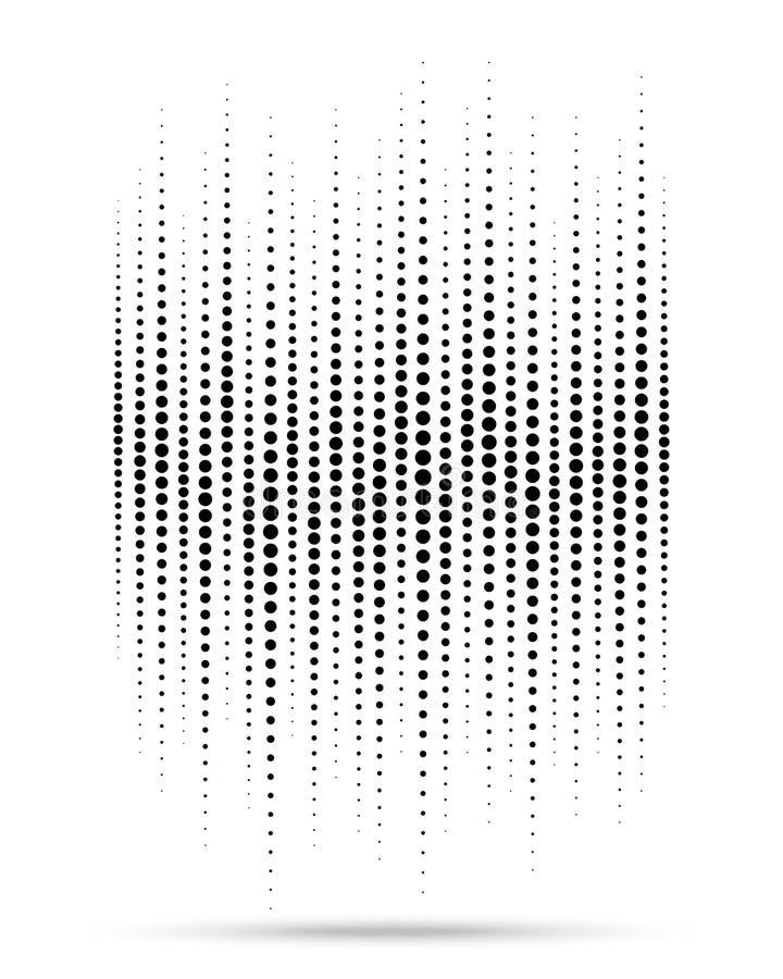Halftone gradient fali okrąg kropkuje teksturę odizolowywającą na białym tle Grunge szablon używać halftone wzór wektor ilustracji