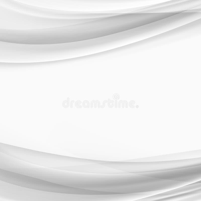 Halftone grey abstract modern wave line layout. Vector illustration stock illustration