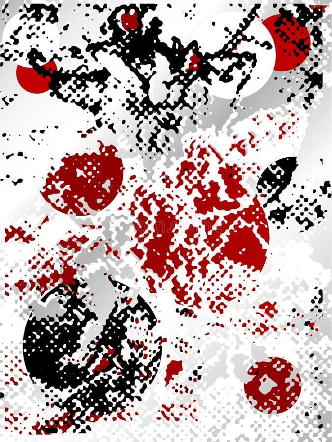 Halftone grunge background royalty free illustration