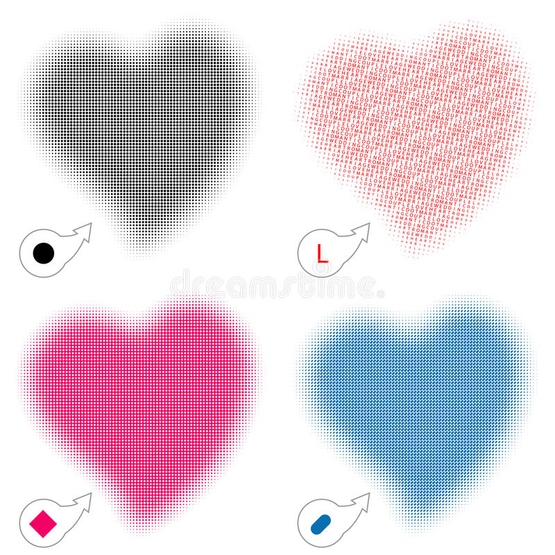 Download Halftone heart stock vector. Illustration of roundness - 13540102