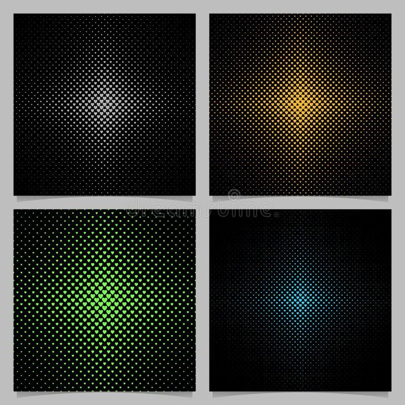 Heart background pattern set - vector Valentine`s day graphic design vector illustration