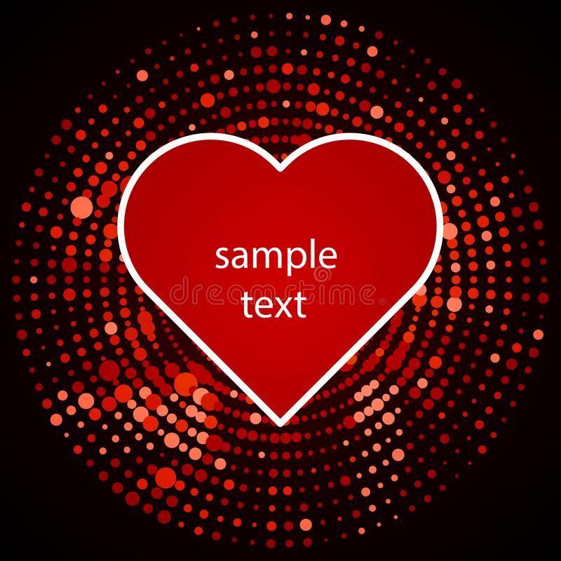 Halftone heart icon in red design royalty free illustration