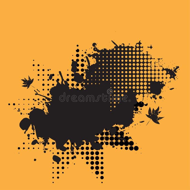 Halftone ink splat grunge stock illustration