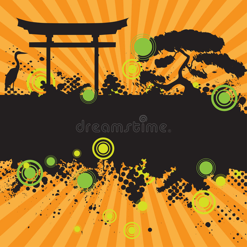 Halftone ink splat grunge stock illustration