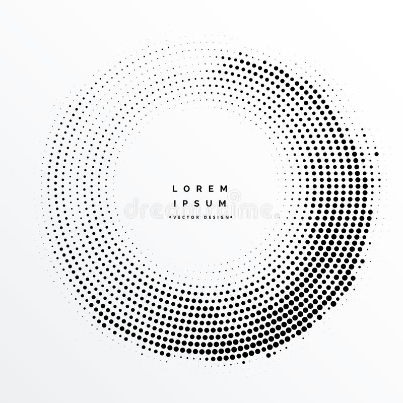 Halftone kader abstract ontwerp als achtergrond stock illustratie