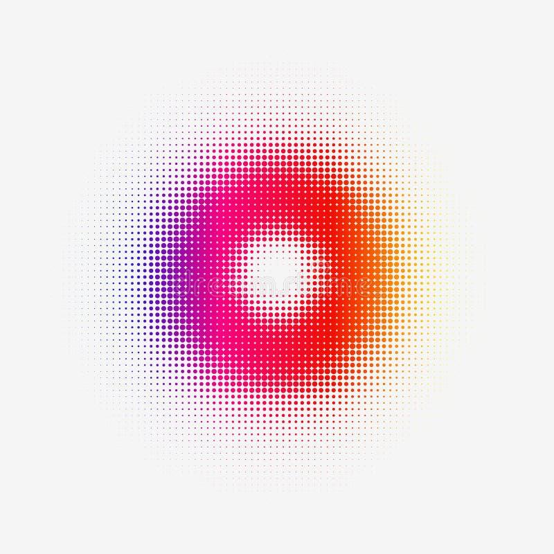 Halftone Kleurrijke Torus voor Web of Druk stock illustratie