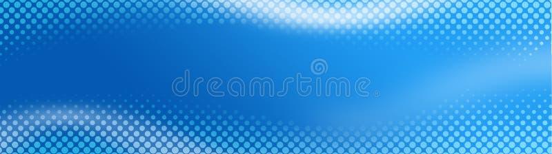 Halftone kopbal/de Banner van het Web vector illustratie
