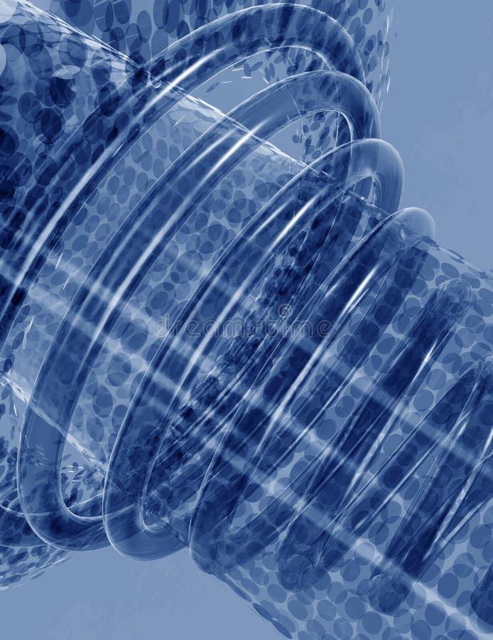 Halftone kropki 3d tło technologia royalty ilustracja