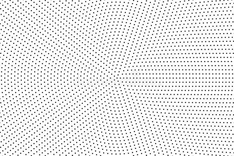 Halftone kropkowany tło Abstrakcjonistyczny monochromatyczny tło Wzór z małymi okręgami, kropki ilustracji