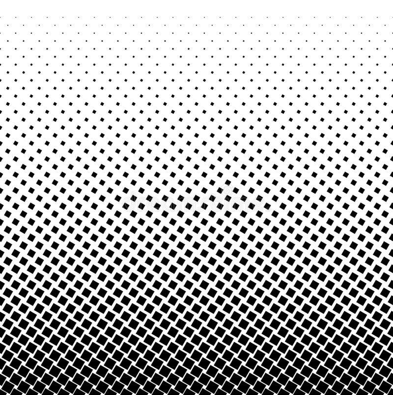 Halftone kwadrata kropki wektoru tekstura Halftone wzoru brzmienia tło royalty ilustracja