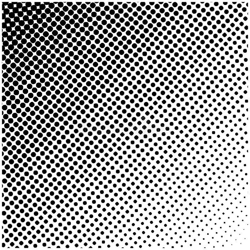 Halftone kwadratowy wektorowy logo, symbol, ikona, projekt Abstrakt kropkowana ilustracja na białym tle ilustracji