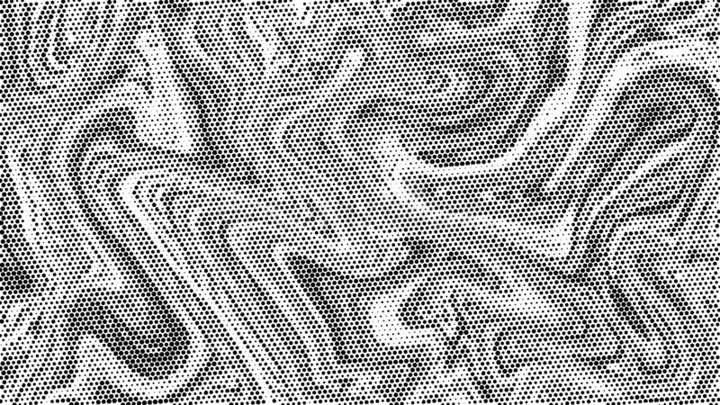 Halftone marble texture background.Abstract black and white dot art backdrop.Modern grayscale pattern,business cover background de royalty free illustration