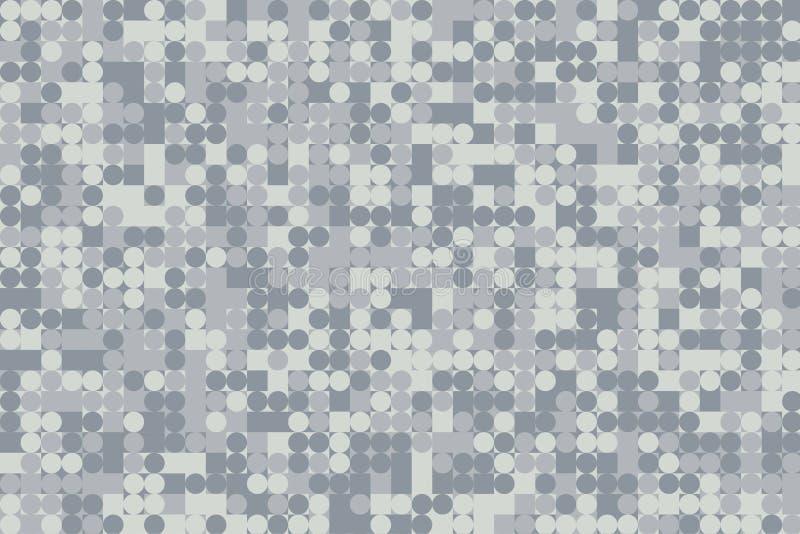 Halftone mozaiki Futurystyczny wzór ilustracja wektor