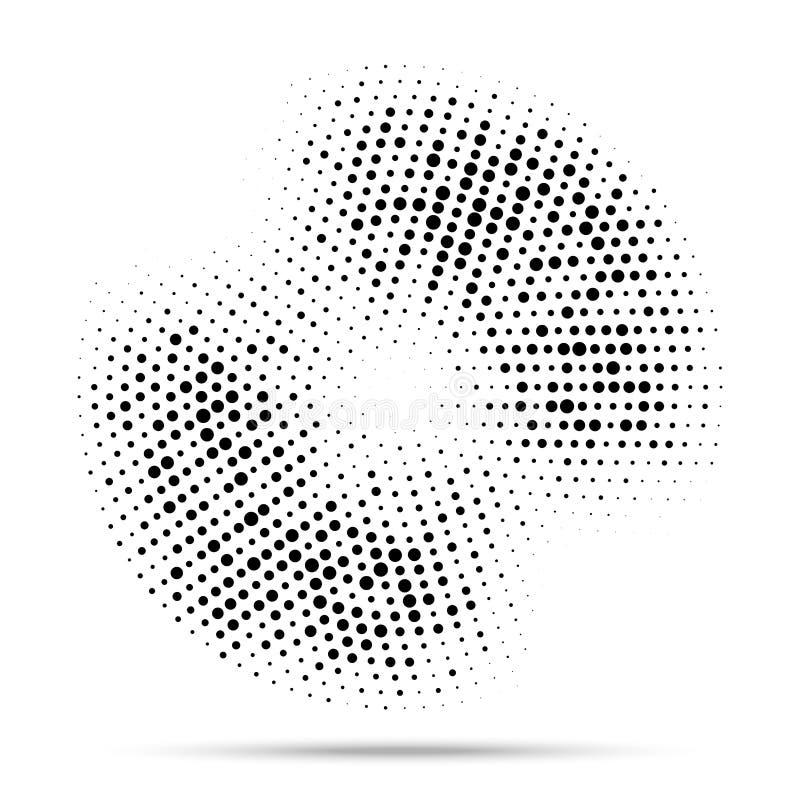 Halftone okrąg ramy kropkowany tło Round rabatowy używa halftone przypadkowy okrąg kropkuje raster teksturę grunge wektor royalty ilustracja