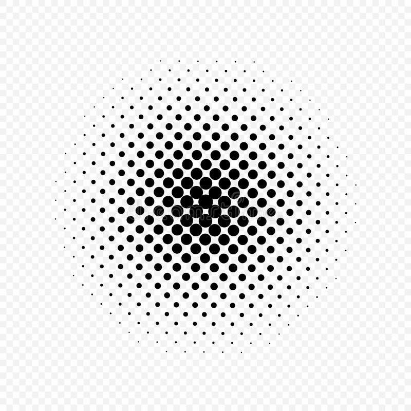 Halftone okregów skutek, kropka wzór również zwrócić corel ilustracji wektora Odizolowywający na przejrzystym tle ilustracja wektor