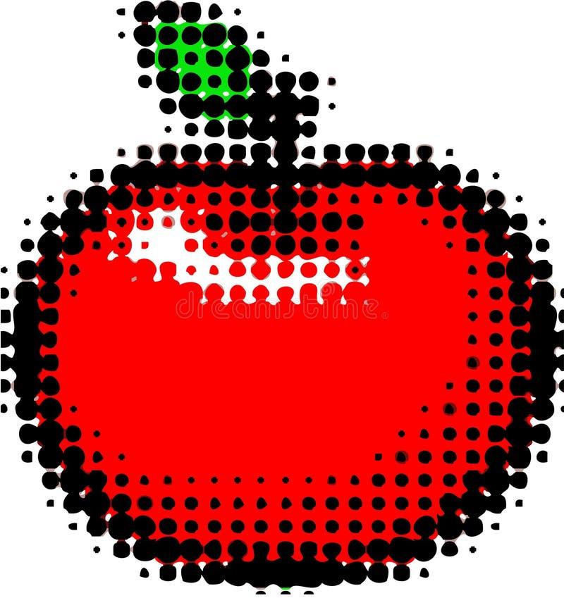 Halftone ontwerp van de appel vector illustratie