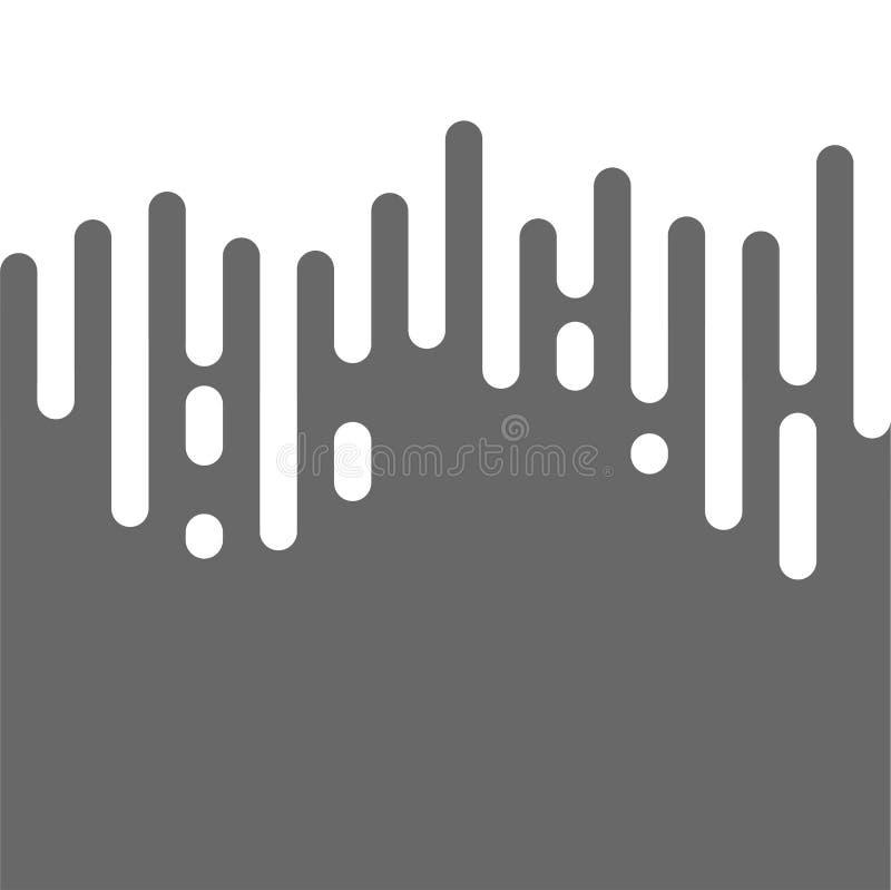 Halftone Overgangs Abstract textielpatroon Naadloze Onregelmatige Rond gemaakte Lijnen moderne vlakte voor website en drukachterg vector illustratie