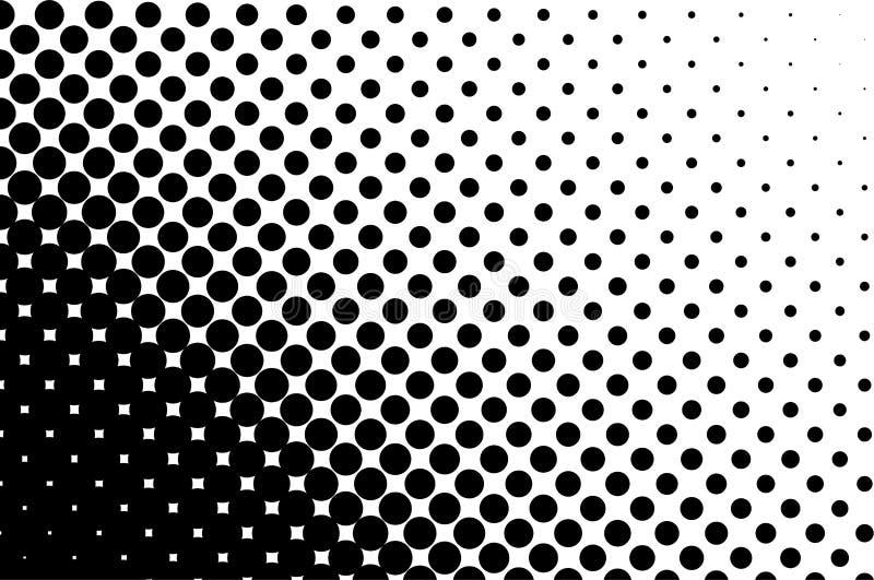 Halftone patroon Grappige achtergrond Gestippelde retro achtergrond met cirkels, punten Rebecca 36 stock illustratie