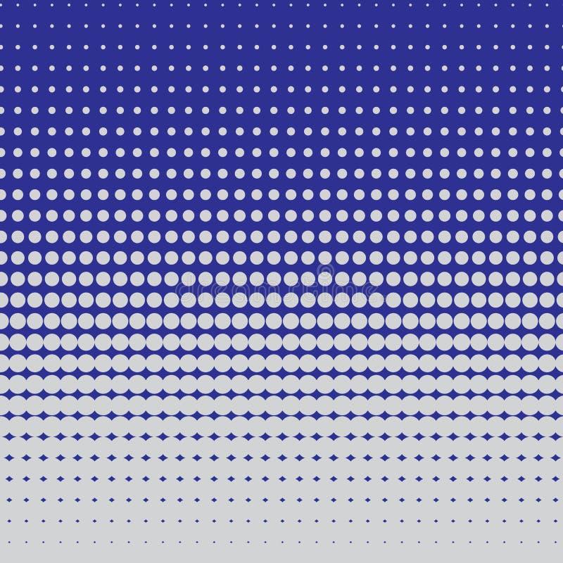 Halftone patroon van cirkels stock illustratie