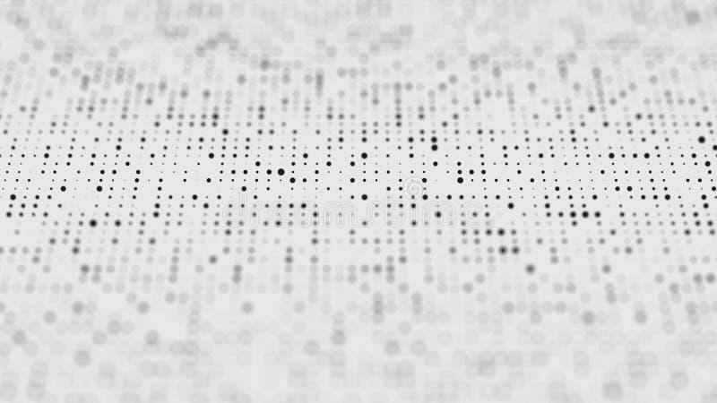 Halftone patroon Zwart-witte samenstelling Glitch achtergrond De achtergrond van het gradi?ntontwerp Samenvatting gestippelde ach stock illustratie
