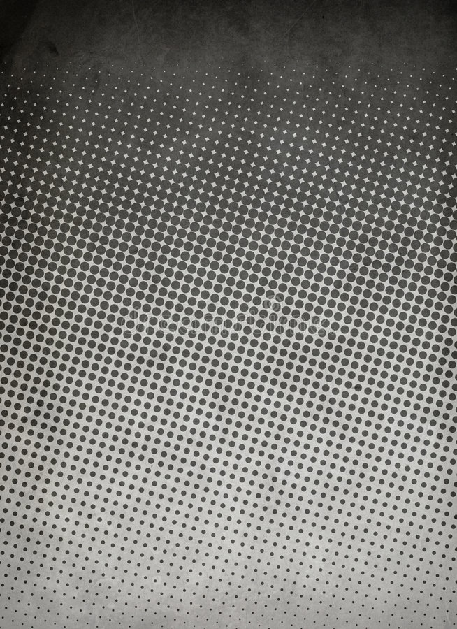 Halftone pattern Gray. A grungy black and gray halftone pattern that fades from dark to light. Perfect background for urban, athletic, or grungy layouts royalty free stock photo