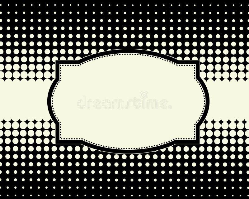 Halftone puntframe als achtergrond royalty-vrije illustratie