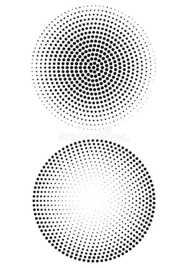 Halftone puntpatroon,   vector illustratie