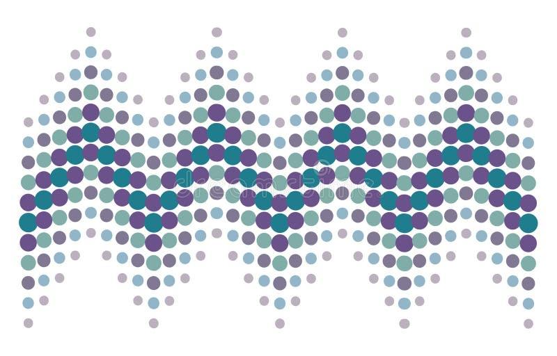 Halftone puntpatroon 3 stock illustratie