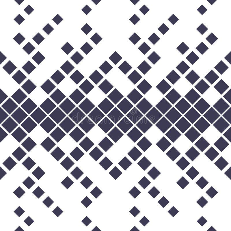Halftone purpere patroon van de diamant geometrische gradiënt stock illustratie