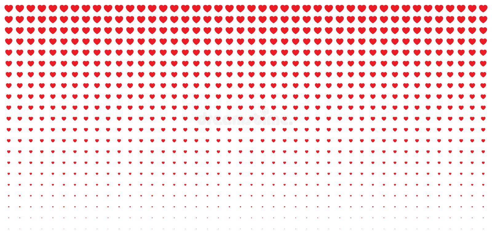 Halftone red hearts gradient background valentines day design card valentines day design illustration card wedding invitation card backdrop design element of background for medical health treatment vector illustration stopboris Images