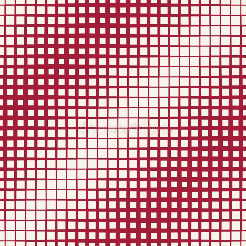 Halftone red square geometric gradient pattern. Background royalty free illustration