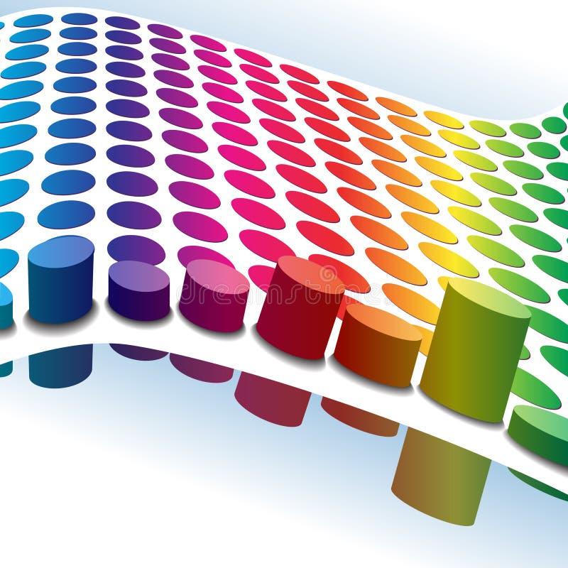 Halftone retro 3D punten stock illustratie