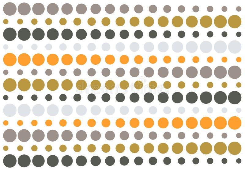 Halftone retro gestreept patroon royalty-vrije illustratie