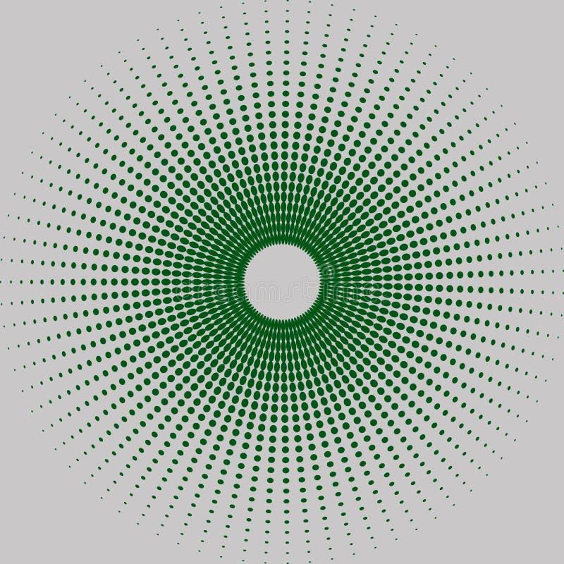 Halftone ronde stock illustratie