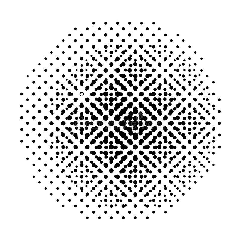 Halftone ronde abstracte achtergrond met punten Vector vector illustratie