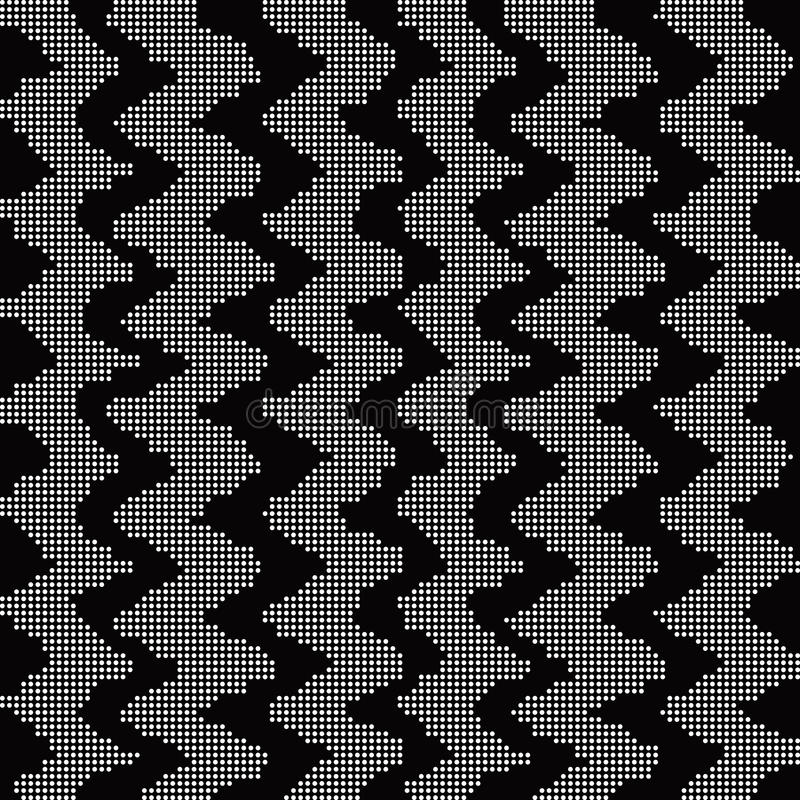 Halftone round black seamless background sawtooth line geometry. Can be used for both print and web page stock illustration