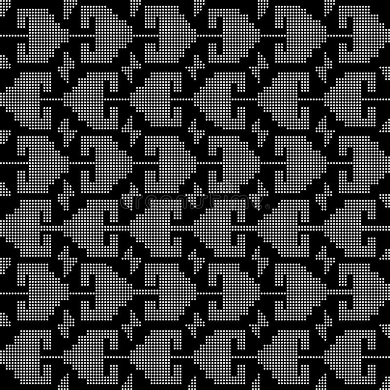 Halftone round black seamless background sawtooth triangle geometry. Can be used for both print and web stock illustration