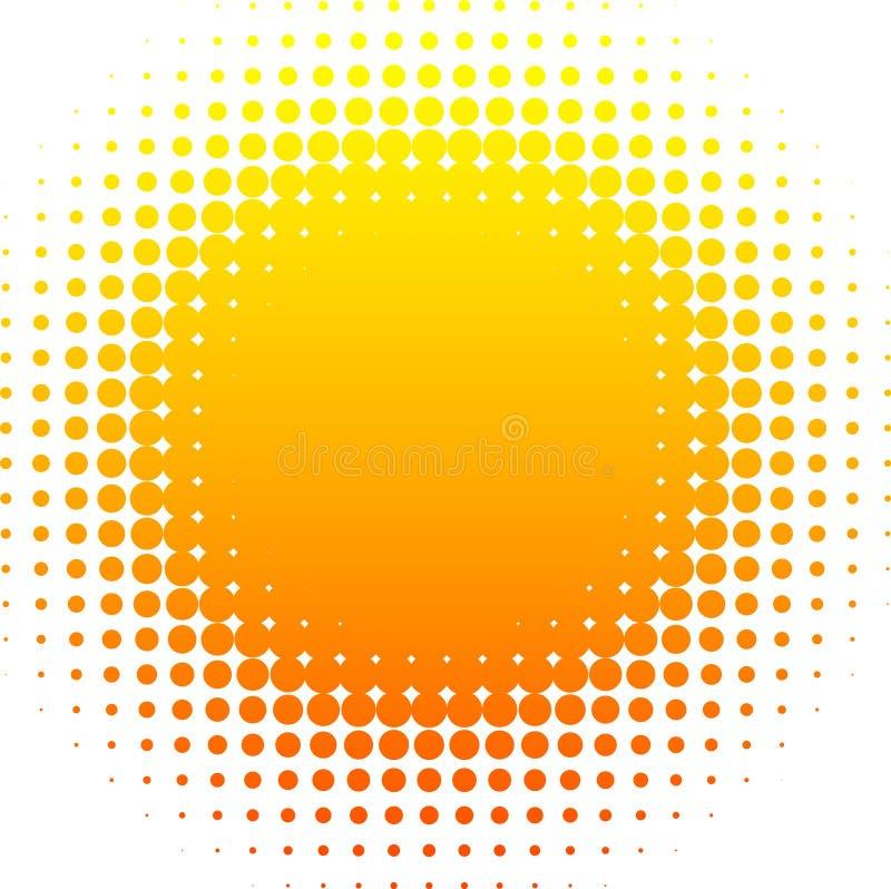 halftone słońce royalty ilustracja