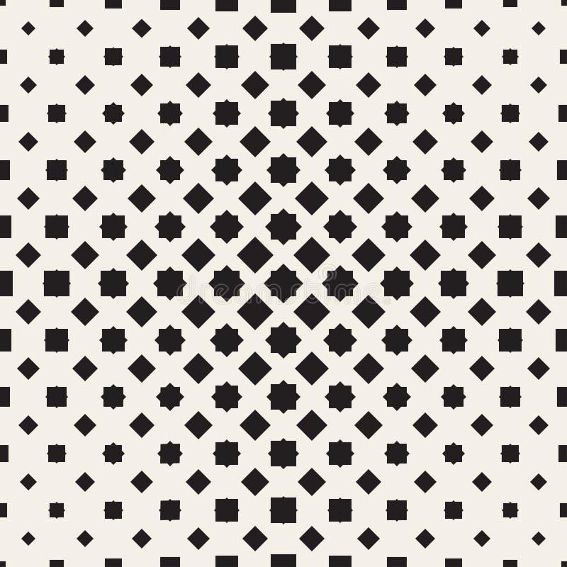 Halftone seamless geometric pattern. Monochrome texture. royalty free illustration