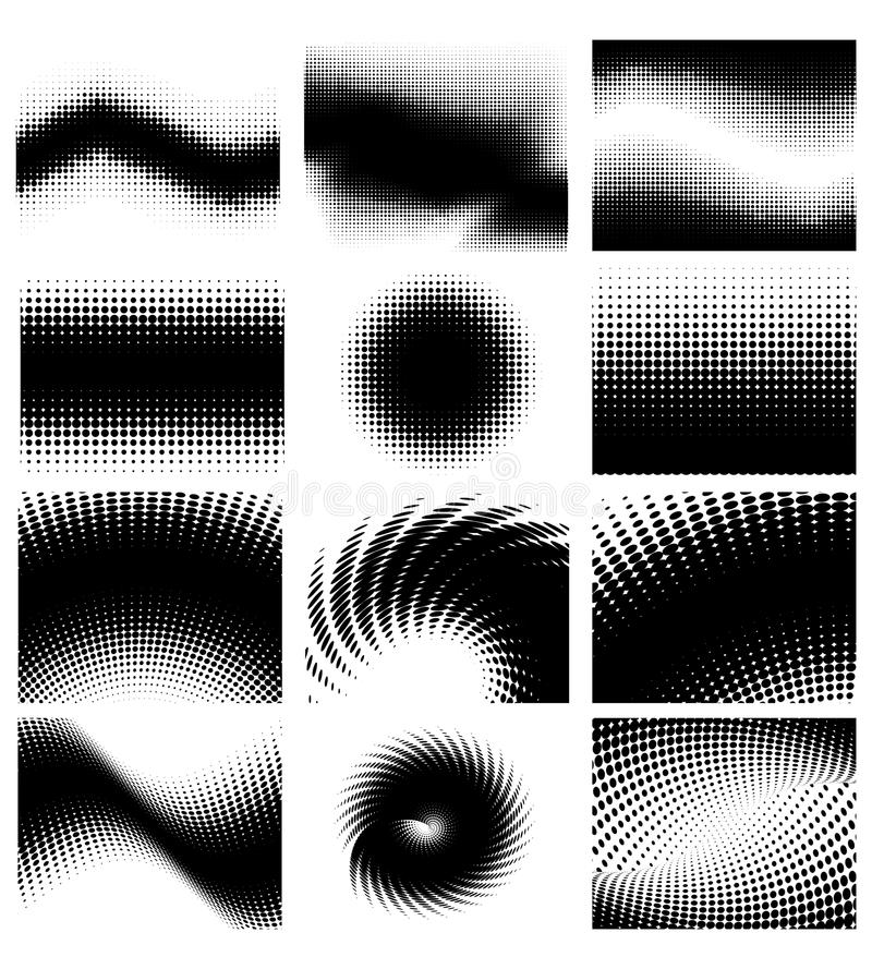 Halftone set royalty free stock images