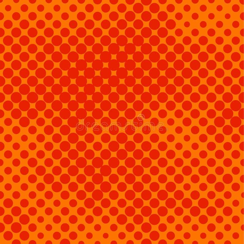 Halftone sinaasappel stock illustratie