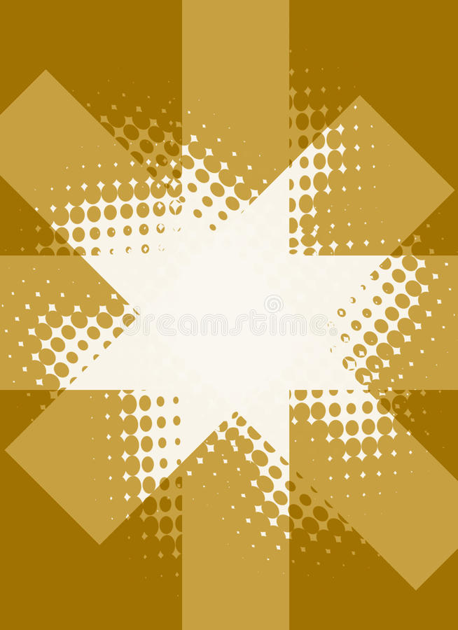 Download Halftone star background stock illustration. Image of brown - 23369082