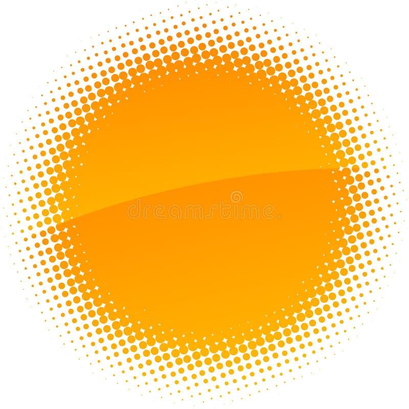 Download Halftone sun. stock vector. Illustration of retro, blank - 10357298