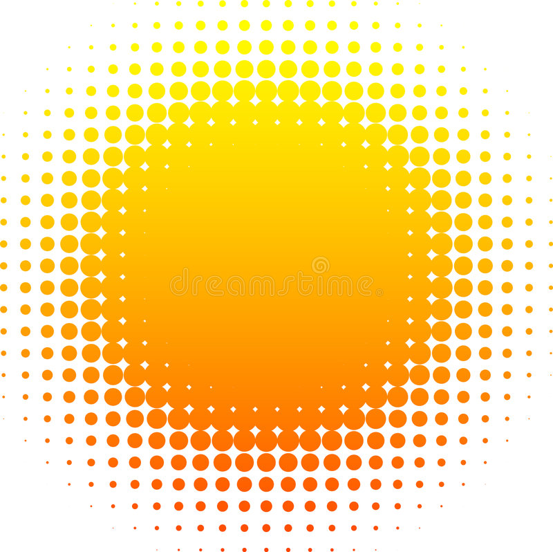 Halftone sun. royalty free illustration