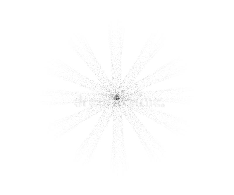 Halftone sun.Engraving vector sun with scattering rays of dots.Halftone rays of the sun from dots. vector illustration