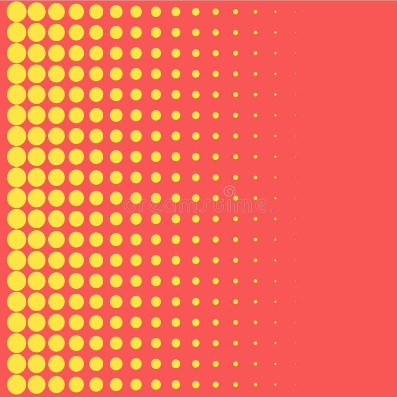 Halftone tła wystrzału sztuki stylu żółte kropki barwią projekta element dla sieć sztandarów, plakaty, karty, tapeta, tła, etykie ilustracji