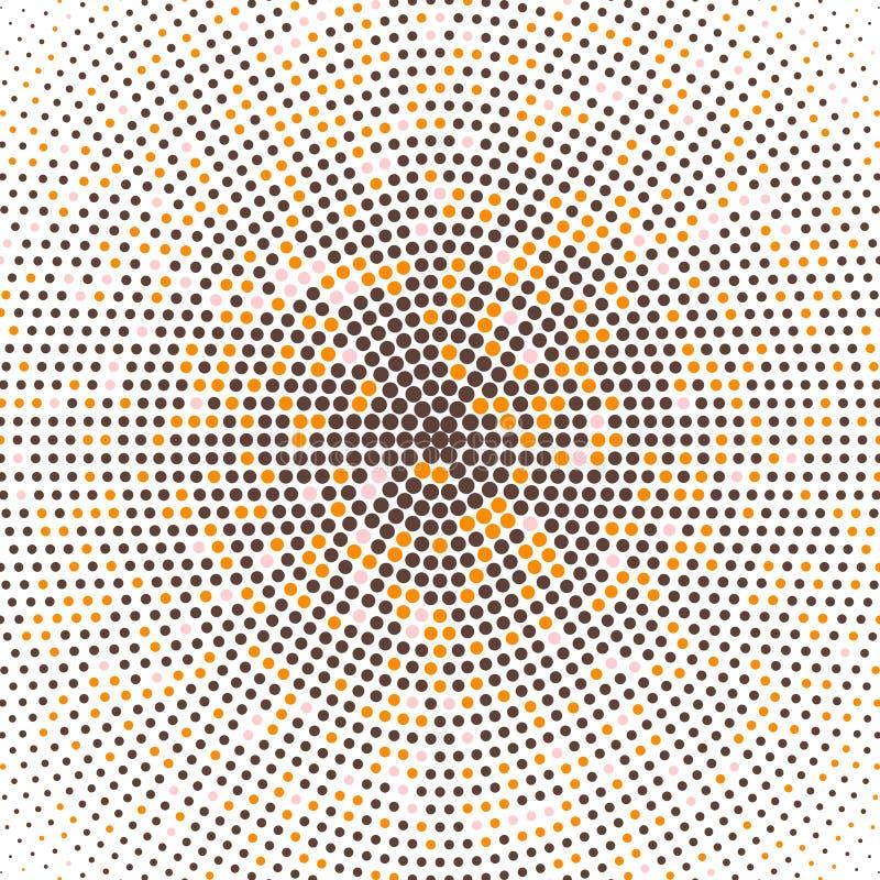Halftone van radiale gradiënt, gekleurde puntenachtergrond Moderne gestippelde halftone digitale structuur Vectorpatroon, malplaa royalty-vrije illustratie